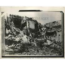 1930 Press Photo Earthquake, Aviano, Italy