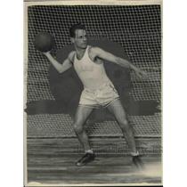 1927 Press Photo Drake University Basketball Guard Preston Lawless