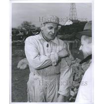 1958 Press Photo William Meyer Chief Pilot Glenfield - RRS49395