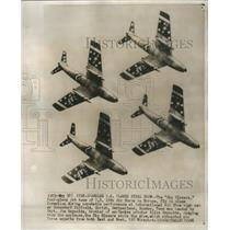 1956 Press Photo Sky Blazers Four Plane Jet Teams US 12 - RRS57721