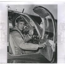 1958 Press Photo George Preston Williams Pilot Plane NY - RRS48891