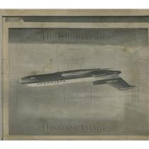 1968 Press Photo Boeing 727 three-engine jet hijacked - RRS87951