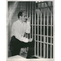 1934 Press Photo Alvin Meyer Murder Wayne County Jail - RRS49437