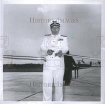 1967 Press Photo Adam Tighe Cuts Ribbon Selefridge Base - RRS38387