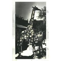 1978 Press Photo Rubber Necking Bbumper Giaraff - RRS36549