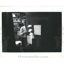 1981 Press Photo Newsman/Anchorman Bill Bonds - RRS08067