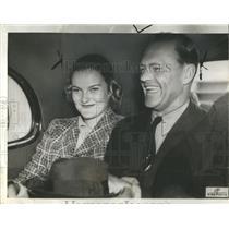 1937 Press Photo James Oliver Cromwell Wife Doris Duke - RRS14821