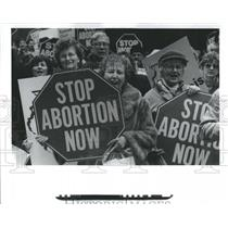 1996 Press Photo Abortion Biamarck Lllions - RRS10739