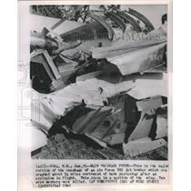 1963 Press Photo Air Force B52 Jet Bomber Major - RRS24301