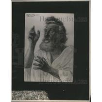 1922 Press Photo Carl Lilk Portrait Actor Passion Play - RRS49607