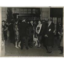 1929 Press Photo Willard Hotel Inaugural Eve