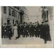 1938 Press Photo Police Blockade in Rome During Demonstrations