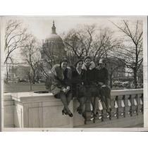 1932 Press Photo Evelyn Rosenthal,Florence Smith & Dorothy Lippincott Protesting
