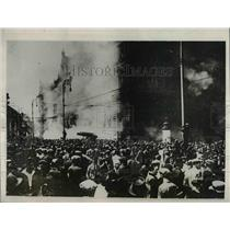 1927 Press Photo Burning of Palace of Justice, Red Riots in Vienna, Austria