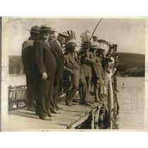 1930 Press Photo Boy Scouts at  Kanohwake Lakes NY