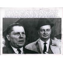 1963 Press Photo Atty ZTOsborne & Teamsters boss James Hoffa