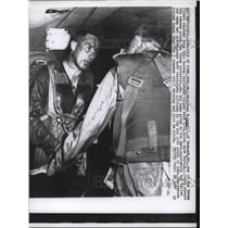 1957 Press Photo Major Winifred E Lynn B-47 Plane Crash Pilots Rescued