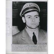 1952 Press Photo Austin E. Briggs, Co-Pilot on Northeast Airline Plane Crash