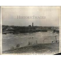 1923 Press Photo Canadian Colored Cotton Mil on St. Croix River Damage by Flood