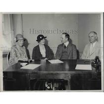 1932 Press Photo Mrs. Arthur Livermore, Mrs. Ruth Pratt, W. Kingsland Nancy