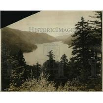 1927 Press Photo Lake Cresent in the Olympic Mts near Puget Sound