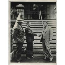 1931 Press Photo Joseph Brophy, Dr. Walter Thayer, Dr. Frank Heacox - nea81195