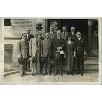 1921 Press Photo Committee on Unemployment Statistics of National Conference