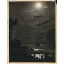 1925 Press Photo Lovely Ocean View Seen from USS Utah at Laguaira, Venezuela