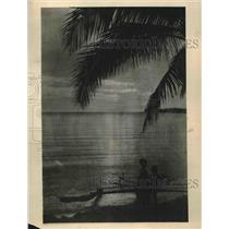 1924 Press Photo View of Lovely and Romantic Philippine Islands Twilight Scenery