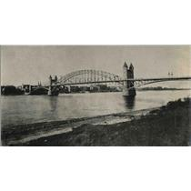 1918 Press Photo Rhein Bridge at Bonn, Germany
