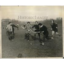 1930 Press Photo Inter Class Hockey Match Savage School