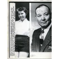 1961 Press Photo Mr & Mrs Glenn Kraft of Charleroi Aboard Plane Crash