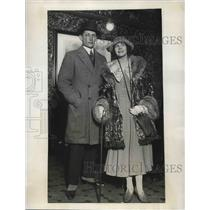 1923 Press Photo James Jolley & Jeanette Sherwin on their honeymoon
