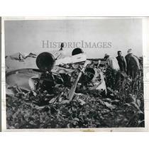 1946 Press Photo A37 plane wreckage from a crash