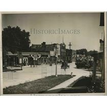 1928 Press Photo West Branch, Iowa Prepared for Visit from Hoover