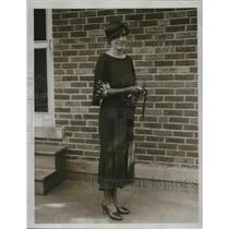 1933 Press Photo Mrs.W.H. Strasmycer of Lakewood Woman's Club.