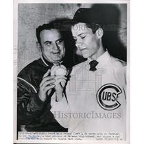 1951 Press Photo Scout Bill Prince & Bob Westgate, Foreman HS pitcher