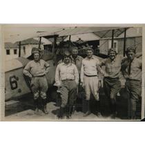 1919 Press Photo Maj SMm Strong,Lts F Austin,Roch,Langley, Brown.Capt Timberman