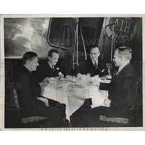 1934 Press Photo C. France, R. Howard, Capt. E. Rickenbacker, Si Morhouse