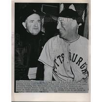 1951 Press Photo Billy Meyer Manager Pirates Coach Milton Stock Boston Braves