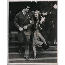 1939 Press Photo Jeff Heath Outfielder Indians Marries Althea Galland Seattle WA