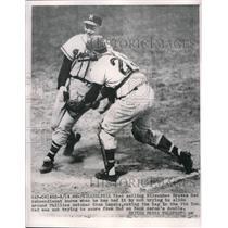 1958 Press Photo Red Schoendiest of the Milwaukee Braves - nes00645
