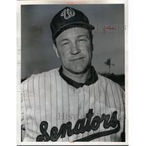 1964 Press Photo Steve Ridzik Pitcher Washington Senators MLB Baseball Player