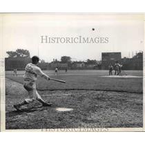 1949 Press Photo High school baseball team at practice - nes02254