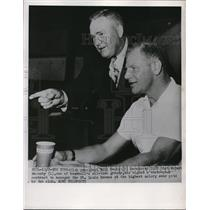 1951 Press Photo St Louis Browns President Bill Veeck & Roger Hornsby