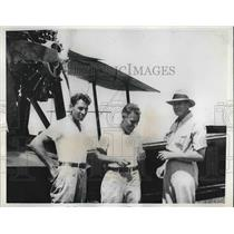 1935 Press Photo Harry Wendt, Art Williams & Edward Sill Pilots in S America