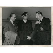 1941 Press Photo Capt Alderson & Captain Kelly Rogers - neb43564