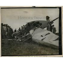 1928 Press Photo Wreckage of Five Passenger Plane in San Diego, CA