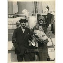 1923 Press Photo NY Wagnerian Opera dir Mr & Mrs Melvin H Dalberg