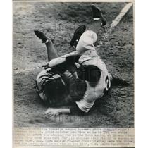 1947 Press Photo Brooklyns Eddie Stanky St. Louis Del Rico - nes01009